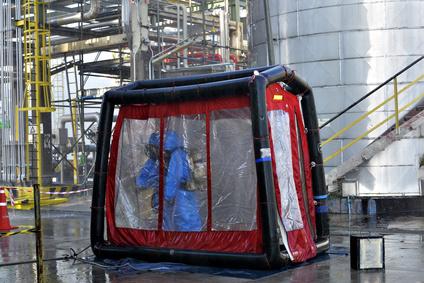 Douche de décontamination