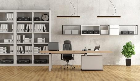 Armoire de bureau et étagère